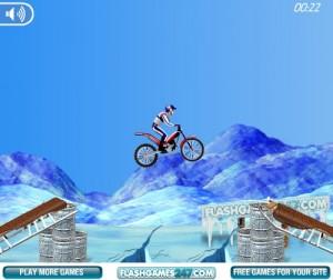flash-игра Bike mania 3 on ice
