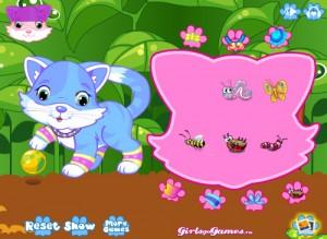 flash-game: Cute Kitty Dressup