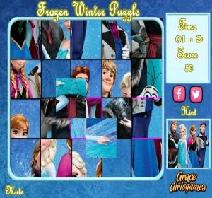 Frozen winter - puzzle